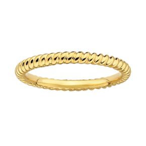 Stacks and Stones 18k Gold Over Silver Twist Stack Ring