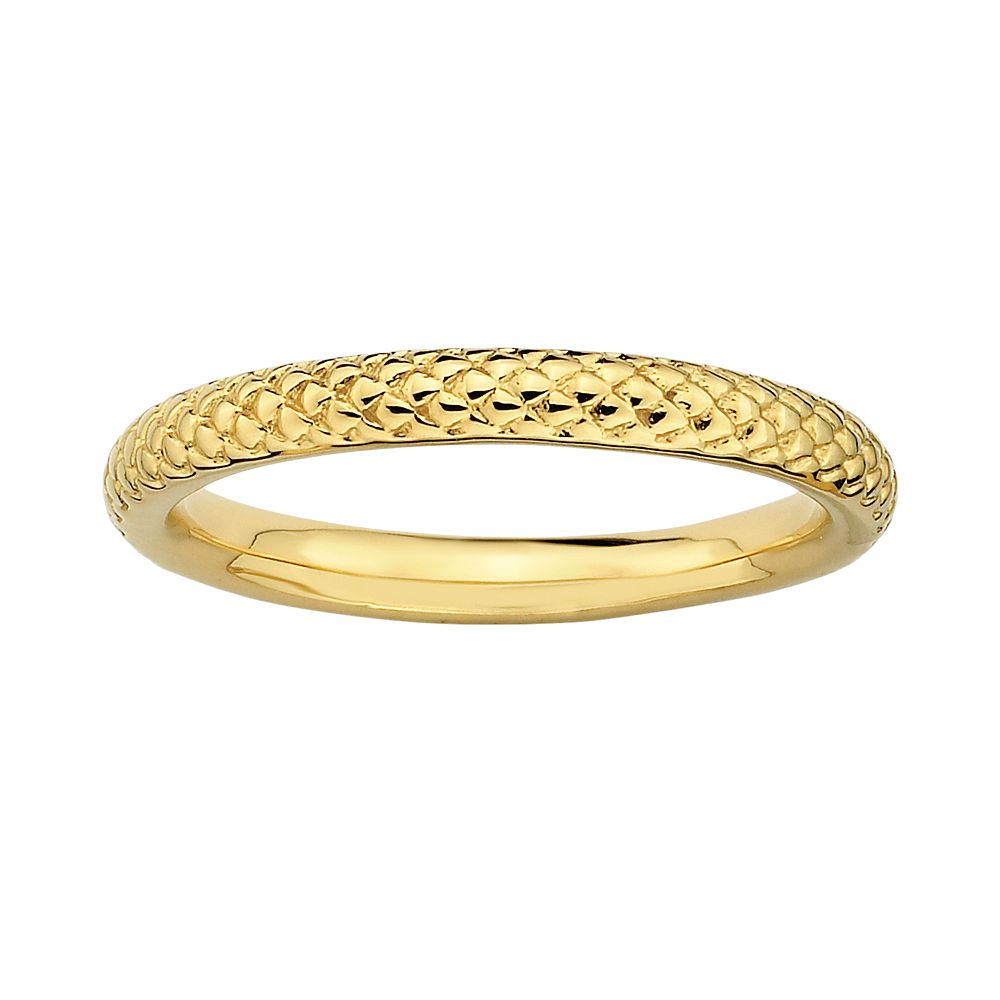 Stacks & Stones 18k Gold Over Silver Cable Stack Ring