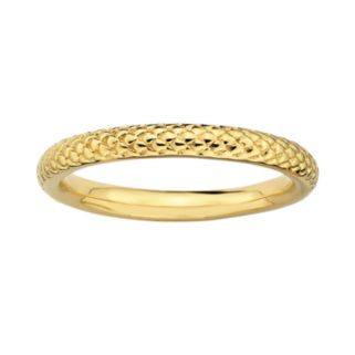 Stacks and Stones 18k Gold Over Silver Cable Stack Ring