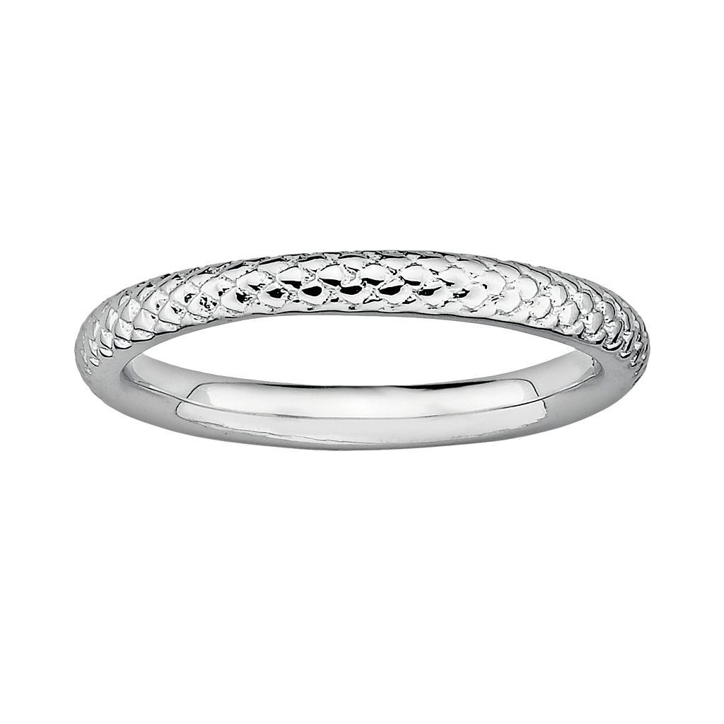 Stacks & Stones Sterling Silver Cable Stack Ring