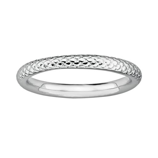 Stacks and Stones Sterling Silver Cable Stack Ring