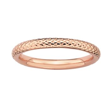 Stacks & Stones 18k Rose Gold Over Silver Cable Stack Ring