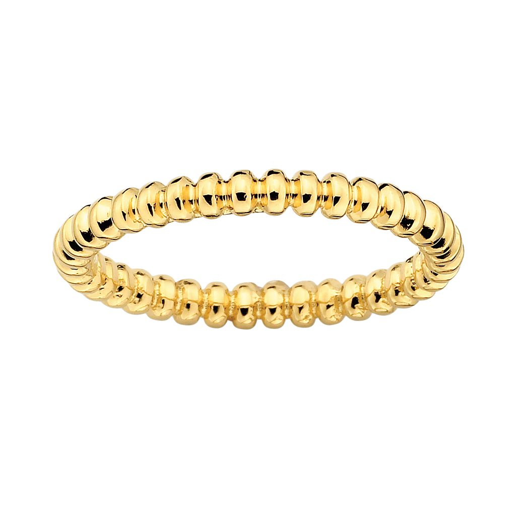Stacks & Stones 18k Gold Over Silver Beaded Stack Ring