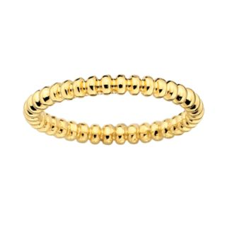 Stacks and Stones 18k Gold Over Silver Beaded Stack Ring