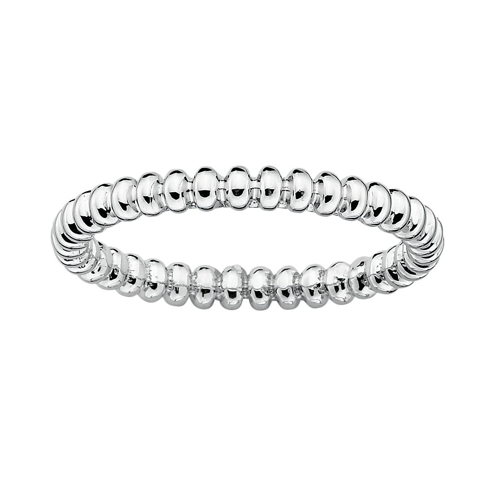 Stacks & Stones Sterling Silver Beaded Stack Ring