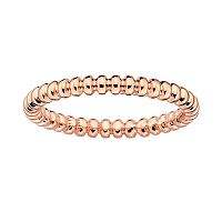 Stacks & Stones 18k Rose Gold Over Silver Beaded Stack Ring