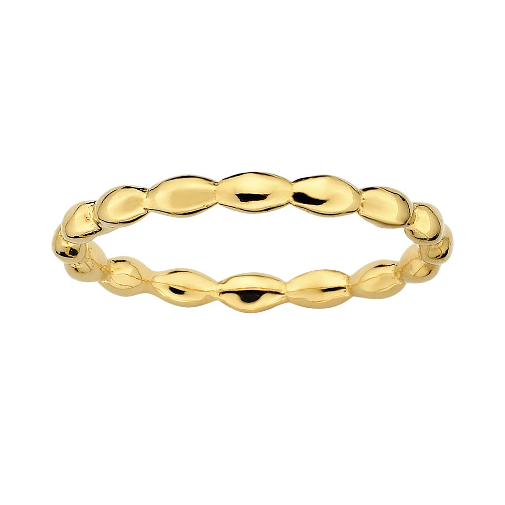 Stacks & Stones 18k Gold Over Silver Rice Stack Ring