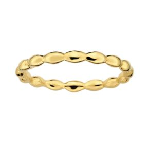 Stacks and Stones 18k Gold Over Silver Rice Stack Ring