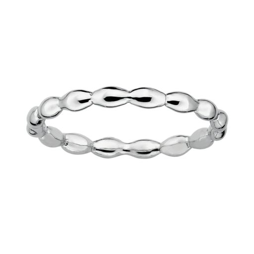 Stacks and Stones Sterling Silver Rice Stack Ring