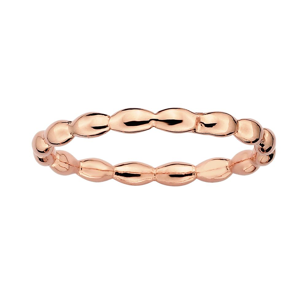 Stacks & Stones 18k Rose Gold Over Silver Rice Stack Ring