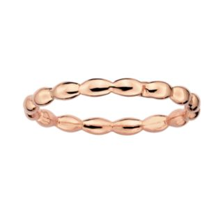Stacks and Stones 18k Rose Gold Over Silver Rice Stack Ring