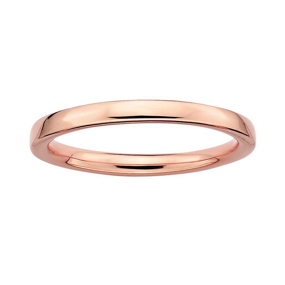 Stacks & Stones 18k Rose Gold Over Silver Stack Ring