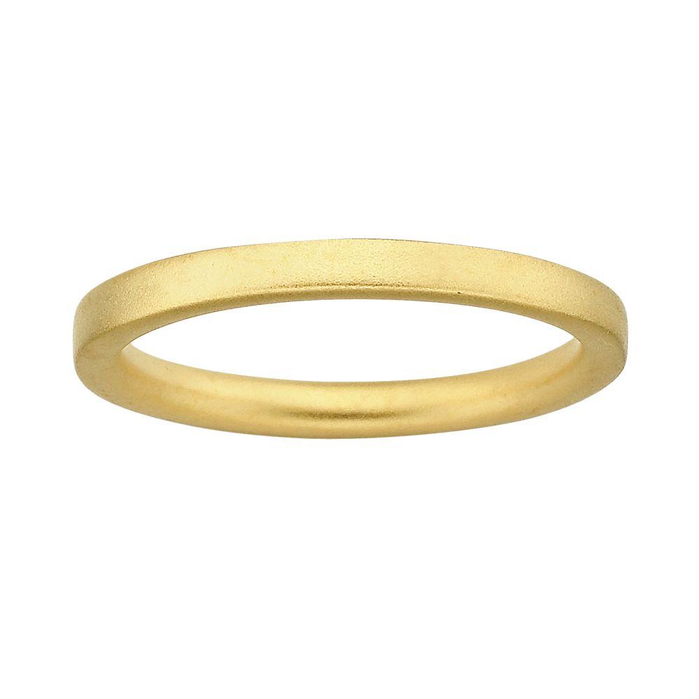 Stacks & Stones 18k Gold Over Silver Satin Finish Stack Ring