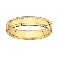 Stacks & Stones 18k Gold Over Silver Milgrain Stack Ring