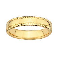 Stacks & Stones 18k Gold Over Silver Milgrain Stack Ring