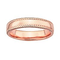 Stacks & Stones 18k Rose Gold Over Silver Milgrain Stack Ring