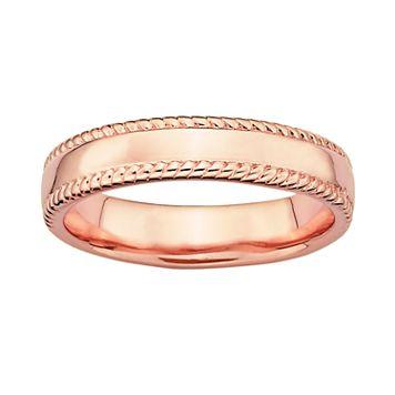 Stacks & Stones 18k Rose Gold Over Silver Milgrain Stack Ring