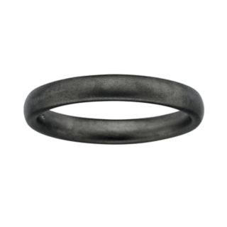 Stacks and Stones Ruthenium-Plated Sterling Silver Satin Finish Stack Ring