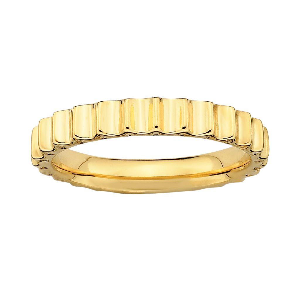 Stacks & Stones 18k Gold Over Silver Beveled Stack Ring