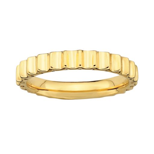 Stacks and Stones 18k Gold Over Silver Beveled Stack Ring