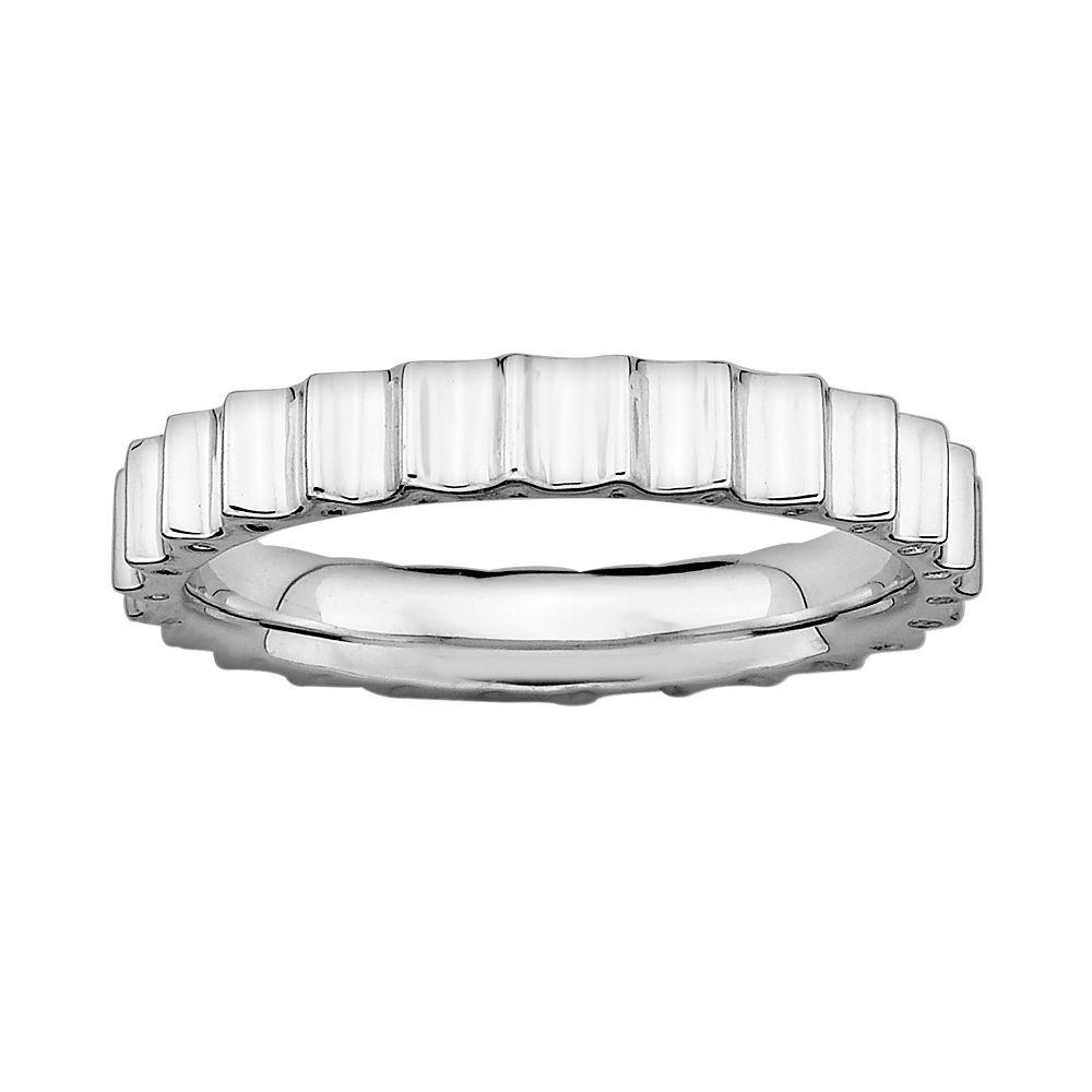 Stacks & Stones Sterling Silver Beveled Stack Ring