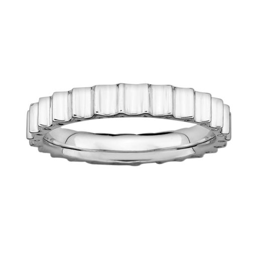 Stacks and Stones Sterling Silver Beveled Stack Ring