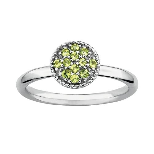 Stacks & Stones Sterling Silver Peridot Cluster Stack Ring