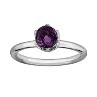 Stacks and Stones Sterling Silver Amethyst Briolette Stack Ring