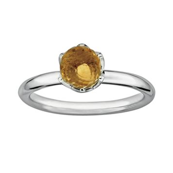 Stacks & Stones Sterling Silver Citrine Briolette Stack Ring