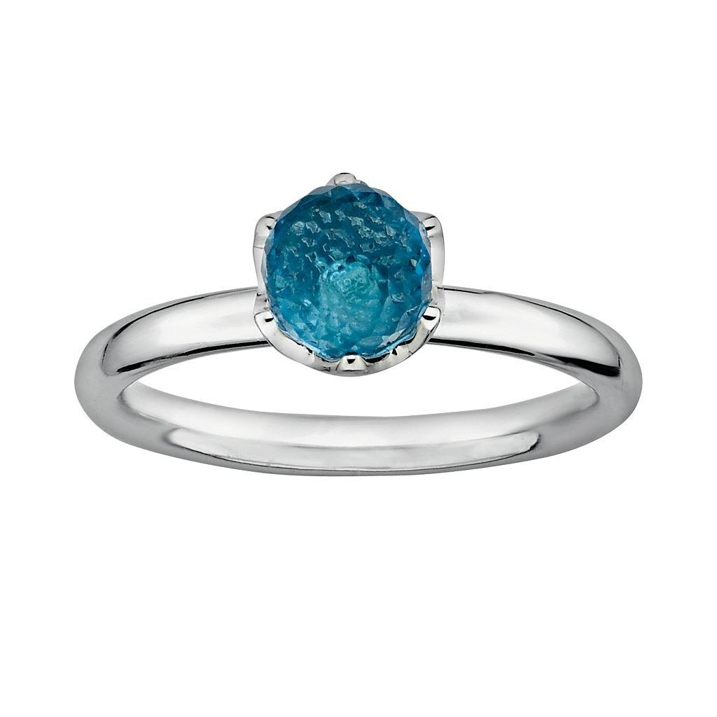 Stacks & Stones Sterling Silver Blue Topaz Briolette Stack Ring