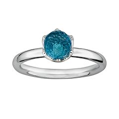 Stacks & Stones Sterling Silver Blue Topaz Briolette Stack Ring