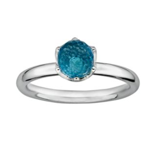 Stacks and Stones Sterling Silver Blue Topaz Briolette Stack Ring