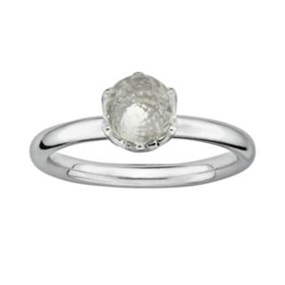 Stacks and Stones Sterling Silver White Topaz Briolette Stack Ring