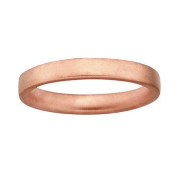 Stacks & Stones 18k Rose Gold Over Silver Satin Finish Stack Ring