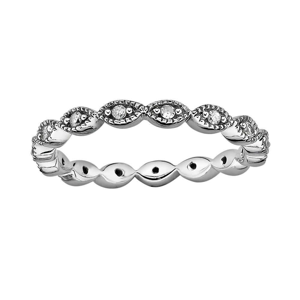 Stacks & Stones Sterling Silver 1/4-ct. T.W. Diamond Eternity Stack Ring