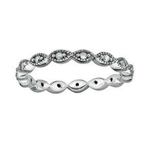 Stacks and Stones Sterling Silver 1/4-ct. T.W. Diamond Eternity Stack Ring