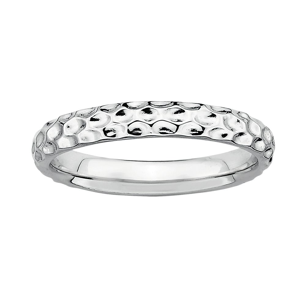 Stacks & Stones Sterling Silver Hammered Stack Ring