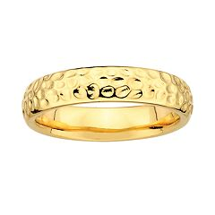 Stacks & Stones 18k Gold Over Silver Hammered Stack Ring