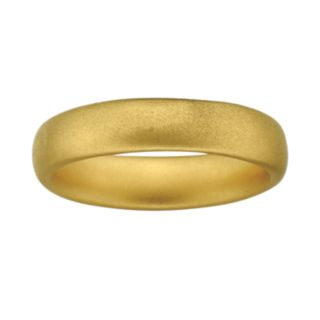 Stacks and Stones 18k Gold Over Silver Satin Finish Stack Ring