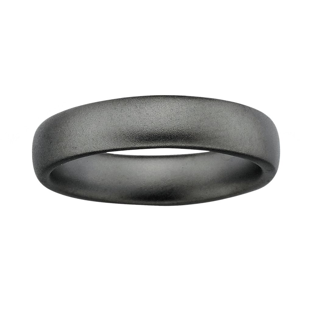Stacks & Stones Ruthenium-Plated Sterling Silver Satin Finish Stack Ring
