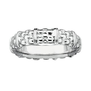 Stacks and Stones Sterling Silver Textured Stack Ring