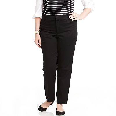 Gloria Vanderbilt Comfort Waist Trouser Pants - Women's Plus