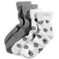 Earth Therapeutics 2-pk. Dotted Shea Butter Thera-Soft Socks