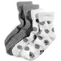 Earth Therapeutics 2-pk. Dotted Shea Butter Thera-Soft Socks