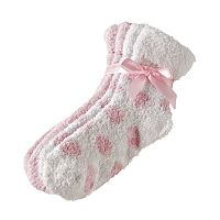 Earth Therapeutics 2 pkDotted Shea Butter Thera-Soft Socks