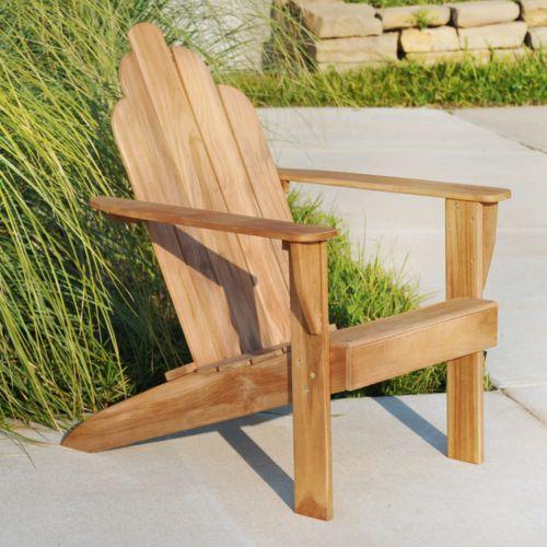 Teak Adirondack Patio Chair