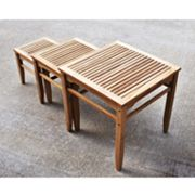 Teak 3-pc. Nesting Table Set