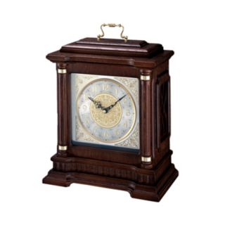 Seiko Oak and Brass Carriage Clock - QXJ004BLH