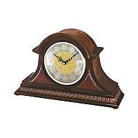 Seiko Oak & Brass Tambour Clock - QXJ003BLH