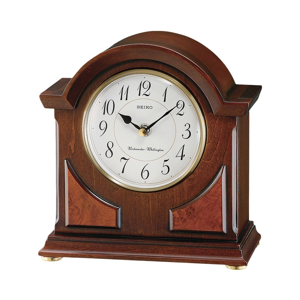 Seiko Wood Brass Carriage Clock Qxj012blh